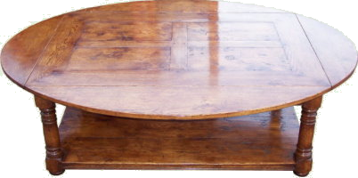 The Oval Panelled Coffee Table