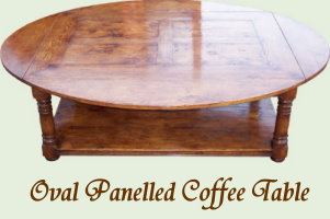 Oval Panelled Coffee Table
